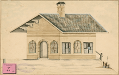 781 Het commiezenhuisje bij de aanlegplaats van de stoomboot op de hoek Dwarskaai-Rouaansekaai te Middelburg