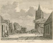 808 Gezicht in het dorp Oostkapelle, met kerktoren