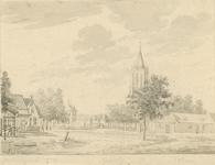 810 Gezicht in het dorp Oostkapelle, met kerktoren, huis Oostkapelle, en travalje