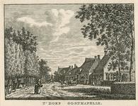 812 Gezicht in het dorp Oostkapelle, met voorbijgangers