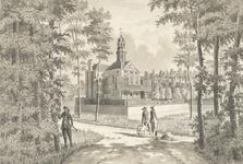 829e Gezicht op het huis Duinbeek te Oostkapelle, gezien aan de achterzijde en linkerzijde, en tuinlieden