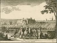849 Gezicht op het huis Cranestein te Oostkapelle, met op de voorgrond personen