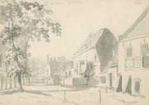865b Gezicht in de dorpsstraat van West-Souburg, met aantekening