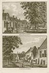 866 Twee gezichten in het dorp West-Souburg, met personen, op 1 plaat