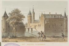 877 Gezicht op het kasteel Aldegonde (naar Ph. van Marnix van St. Aldegonde, eigenaar van 1578-1598) te West-Souburg, ...