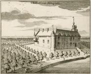 885 Gezicht op de voorzijde en rechterzijgevel van kasteel Aldegonde te West-Souburg