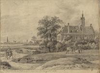 939 Gezicht op het jachthuis Ter Linde te Ritthem, met een ruiter te paard