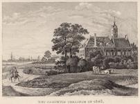 940 Gezicht op het jachthuis Ter Linde te Ritthem, met een ruiter te paard