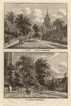 943 Twee gezichten in het dorp Serooskerke (Walcheren), met personen, op één plaat