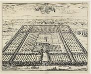 949 Gezicht op het voormalige huis Soetendale te Serooskerke (Walcheren) en omgeving, in vogelvlucht, met op de ...