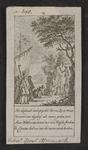 1 De heilige Willebrord en zijn volgelingen bij een heidens afgodsbeeld (van de god Mercurius) op Walcheren in de ...