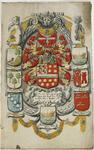 1007 Het titelblad van het privilegeboek van het bakkersgilde te Middelburg, met midden het gehelmde wapen van mr Johan ...
