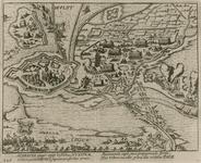 101 Het beleg en inneming van de stad Hulst door de Spanjaarden, met op de voorgrond het leger van Albertus van ...