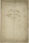 1027-1 Schutblad van tekeningen van de muntpers van Zeeland in de Abdij te Middelburg