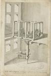 1027-3 De muntpers, de pletmolen in perspectief, in de Abdij te Middelburg