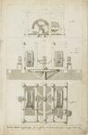 1027-4 De muntpers, de pletmolen in plattegrond, in de Abdij te Middelburg