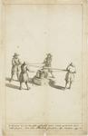 1027-9 De muntpers, de manier van het geld schroeven, in de Abdij te Middelburg