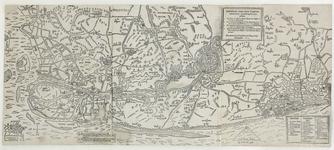 103 Kaart van een deel van Vlaanderen met de tochten van prins Maurits, met verklaring der cijfers en letters rechts- ...