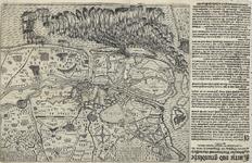 113 Kaart van de grote tocht van het Staatse leger in Vlaanderen, onder prins Maurits, met opschrift (Nederlands/Frans) ...