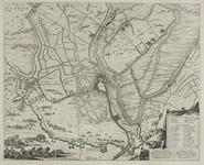 147 Kaart van beleg en verovering van Sas van Gent door prins Frederik Hendrik met aanduiding van de werken en ...