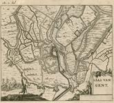 150 Beleg en verovering van Sas van Gent door prins Frederik Hendrik, met aanwijzing van de troepenopstellingen, titel ...