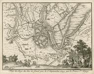 151 Beleg en verovering van Sas van Gent door prins Frederik Hendrik, met krijgslieden aan de onderzijde afgebeeld