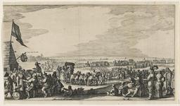 152-1 De uittocht van de Spanjaarden uit Sas van Gent na de verovering door prins Frederik Hendrik, linkerdeel