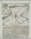 157 Kaart van Hulst en omgeving tijdens het beleg en de verovering van Hulst door prins Frederik Hendrik, met gezicht ...
