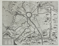 160 Kaart van Hulst en omgeving tijdens het beleg en de verovering van Hulst door prins Frederik Hendrik, met ...