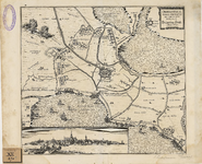 163 Kaart van het beleg en verovering van Hulst door Frederik Hendrik met fort Spinola en St. Marcus bij Axel en ...