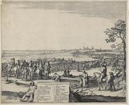 166c Het Spaans garnizoen verlaat Hulst na de verovering door prins Frederik Hendrik, rechterdeel, verklaring van de ...
