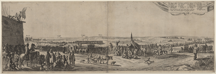 167 Het Spaans garnizoen verlaat Hulst na de verovering door prins Frederik Hendrik (linksvoor afgebeeld), met ...