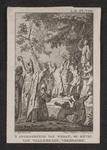 2 De heilige Willebrord bij een heidens afgodsbeeld op Walcheren in de omgeving van Zoutelande