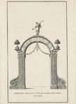 219a Erepoort opgericht voor de Zanddijkse poort ter gelegenheid van de inhuldiging van prins Willem IV als markies van Veere