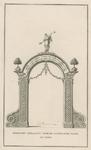 219i Een der beide erepoorten opgericht op de Markt ter gelegnheid van de inhuldiging van prins Willem IV als markies ...
