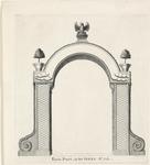 220c Inhuldiging van prins Willem IV als markies van Veere, tweede erepoort op de Markt