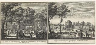 222b Inhuldiging van prins Willem IV als erfheer van Vlissingen, aanbieding van de sleutels van de stad bij de koepel ...