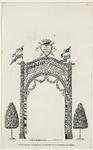 224i Door de weeskinderen opgerichte erepoort ter gelegenheid van de inhuldiging van prins Willem V als markies van Veere
