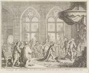 26 De overdracht van de Nederlanden door keizer Karel V aan zijn zoon Philips II aan het hof te Brussel
