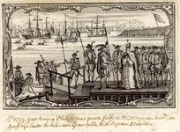28 Koning Philips II spreekt voor het vertrek van het grote hoofd te Vlissingen naar Spanje met Granvelle, bisschop van ...