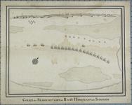 285 Gezicht op de ligging van de Franse vloot op de rede van Hoogplaat, ter afsluiting van de Schelde, oriëntatie ...