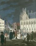 287a Het oprichten van de vrijheidsboom op de Markt te Middelburg
