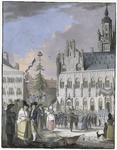 287b Het oprichten van de vrijheidsboom op de Markt te Middelburg