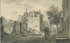 301a Gezicht in de Walstraat te Vlissingen, na het bombardement door de Engelsen