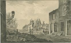 301b Gezicht in de Walstraat te Vlissingen, na het bombardement door de Engelsen