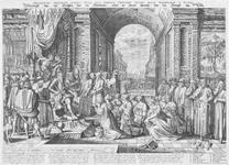 32 Allegorische voorstelling van de tirannie van de hertog van Alva met onder andere de Raad van Beroerten, de paus en ...