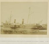 337-2 Aanlegponton van de Stoomvaartmaatschappij Zeeland in de Buitenhaven te Vlissingen met het eerste schip (een ...