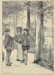 364 Spotprent op de prikkeldraadafrastering op het Molenwater te Middelburg met wethouder H.P. den Bouwmeester in ...
