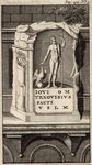 445-2 Een altaarsteen opgedragen aan de god Jupiter, op 5 januari 1647 gevonden op het strand van Domburg