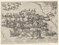 48 Slag voor Reimerswaal tussen de Spaanse vloot en de Geuzenvloot, 5 x 2 versregels (Duits)